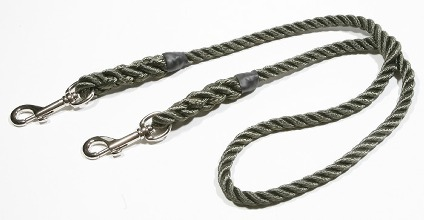 Rope brace clip lead (two dogs - one handle)