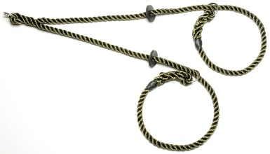 Rope brace slip collar (two dogs - one lead)